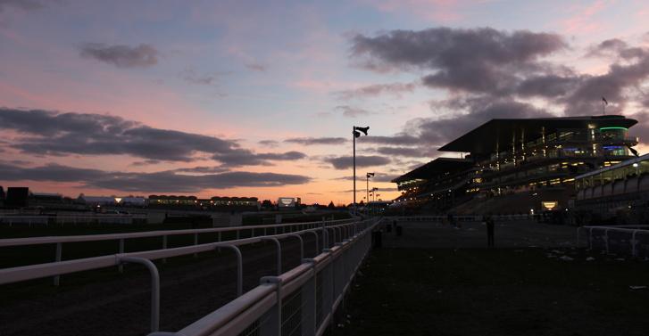 Cheltenham Racecourse at Sunset