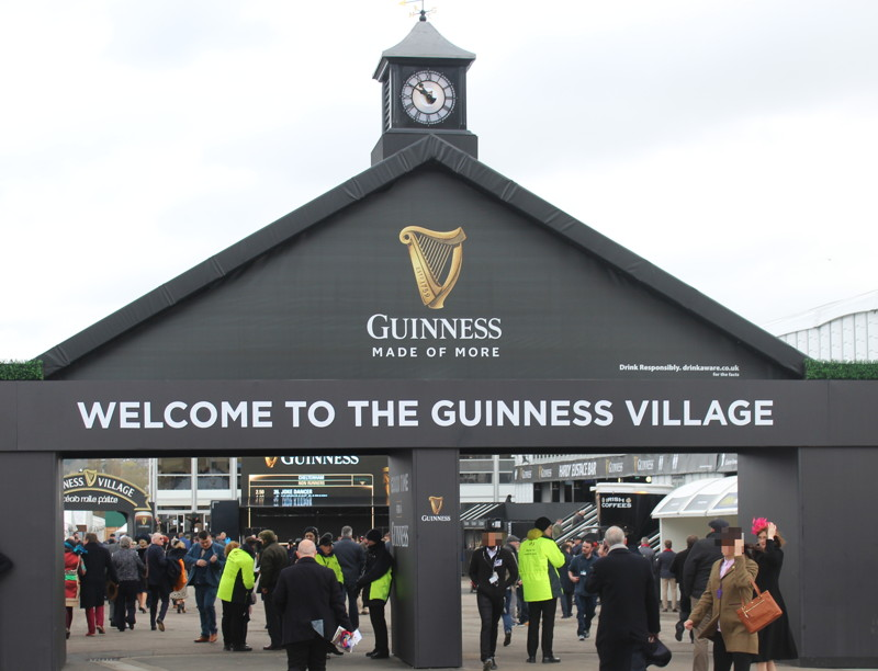 guiness village at cheltenham racecourse