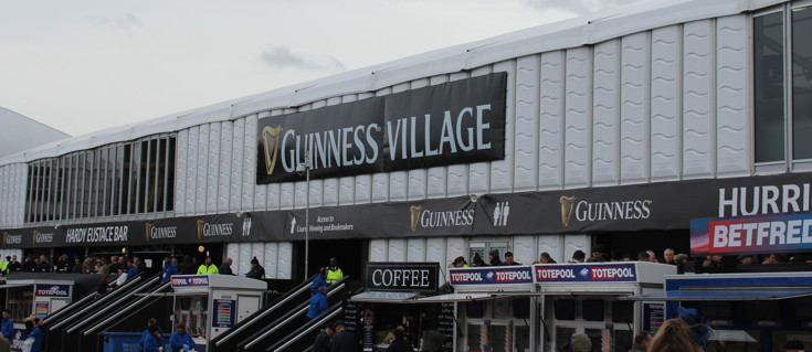 guinness village at cheltenham racecourse 1