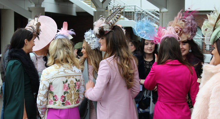 ladies dressed for Ladies Day at the Cheltenham Festival 1