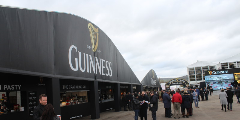 guiness village at cheltenham