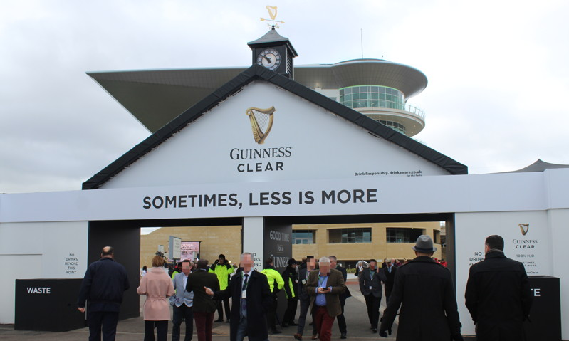 guiness village exit at cheltenham racecourse
