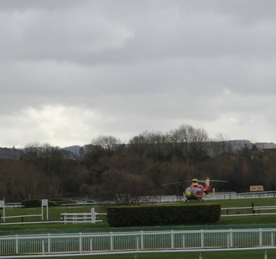 helicopter at cheltenham