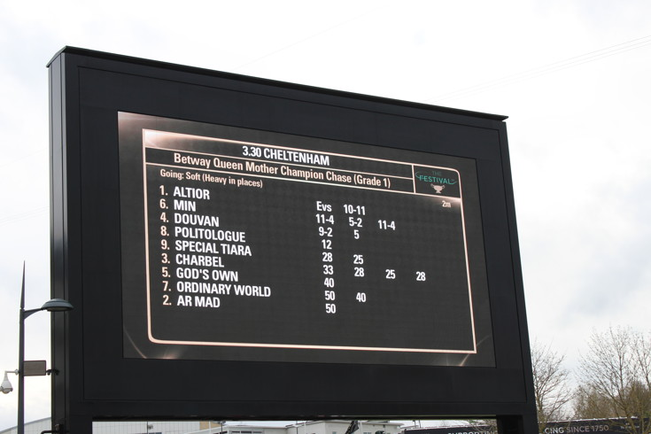 queen mother champion chase ladies day race information board