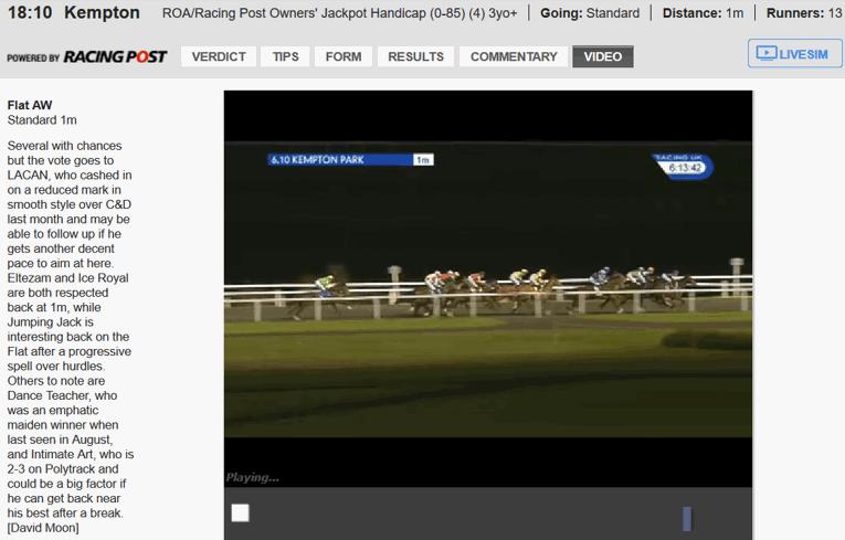 ladbrokees live horse race stream 1