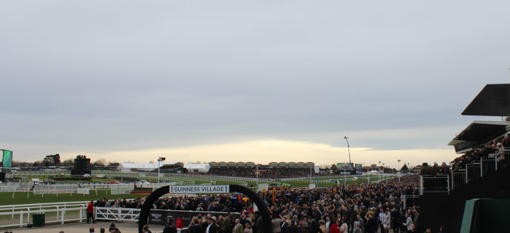 view of the stands at cheltenham racecourse