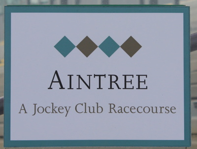 aintree racecourse sign