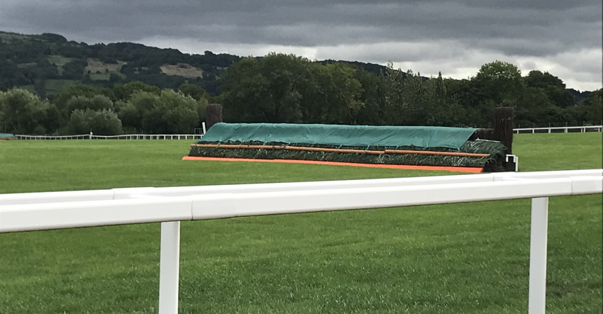 cheltenham course fence close up