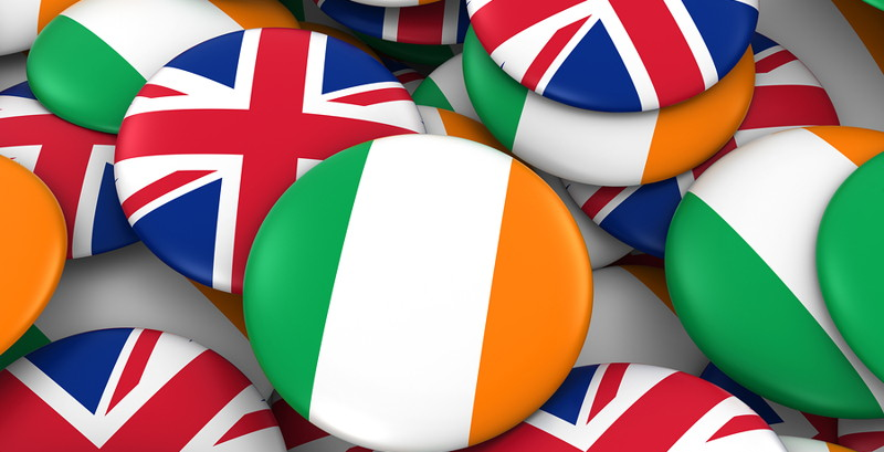 british irish flag buttons
