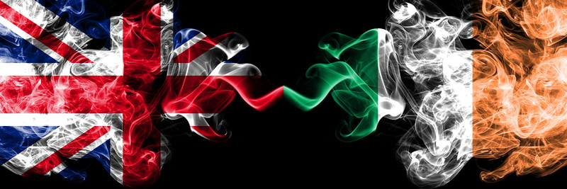 british irish flag smoke