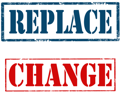 replace change sign