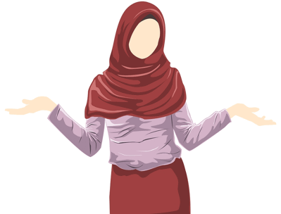 woman wearing hijab with arms outstretched