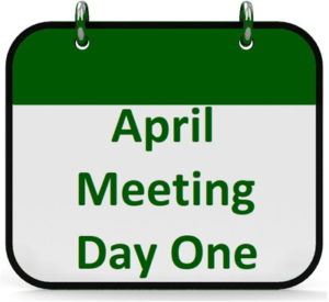 the april meeting day one