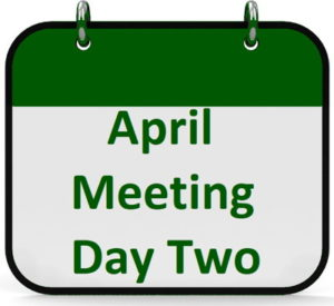 the april meeting day two